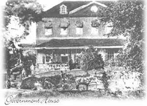 Historical Photograph of the Government House in Grenada