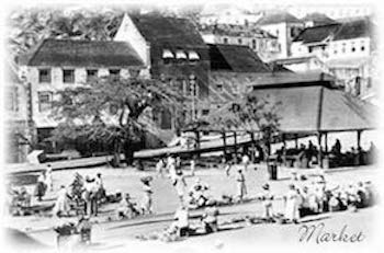 Historical Photograph of the market in Grenada